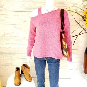 Lovers + Friends one shoulder soft knit sweater